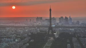 Kiwi.com glorious Paris skyline image marketing