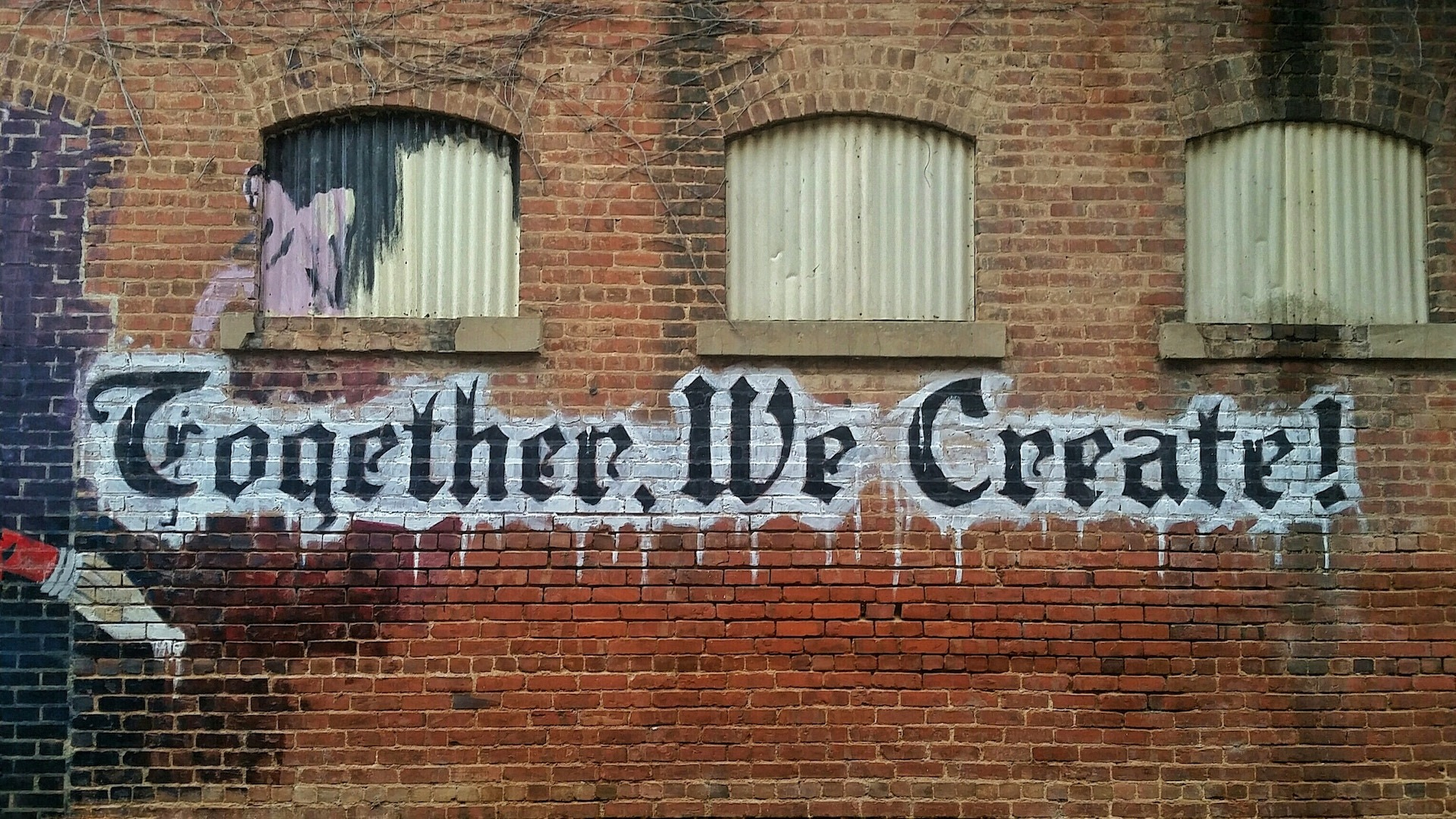 Together we create graffiti tag image Bristol marketing agency content agency