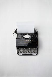 Typewriter Image writing journalism content communications