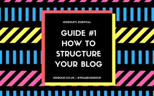 How to structure your blog - guide #1 image blogging content marketing Bristol agency communications social media