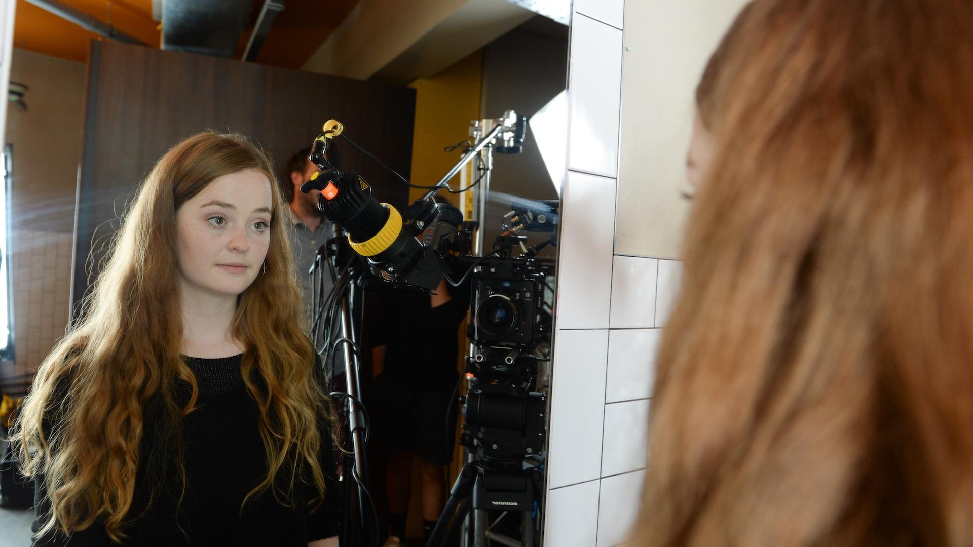 Laurie Ogden filming Barnardos