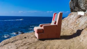 Chair on the beach image content marketing agency